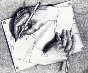 Эшер, Рисующие руки