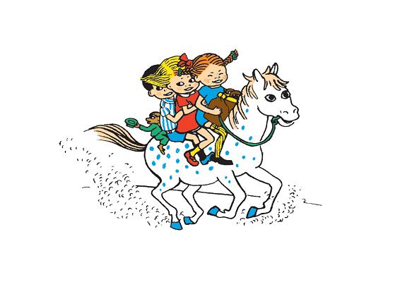 Пеппи, лошадь, дети
